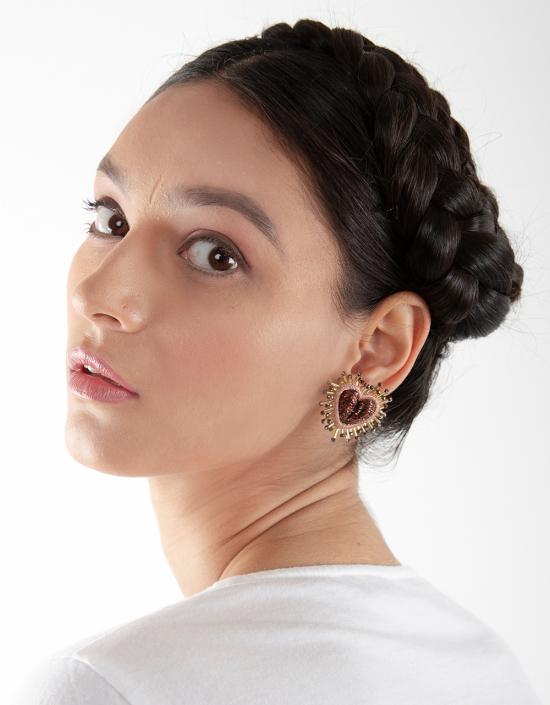 Mini Sparkle Heart Earrings