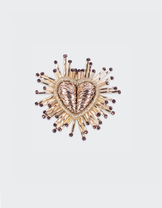 Sparkle Heart Brooch