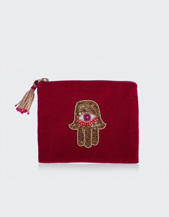 Hamsa Jewelry Bag