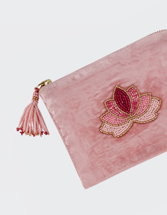 Lotus Jewelry Bag