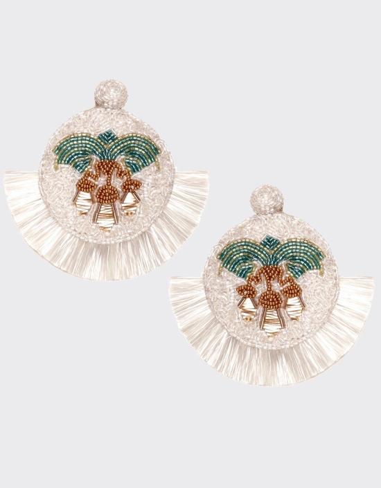 Mosaic Palm Earrings