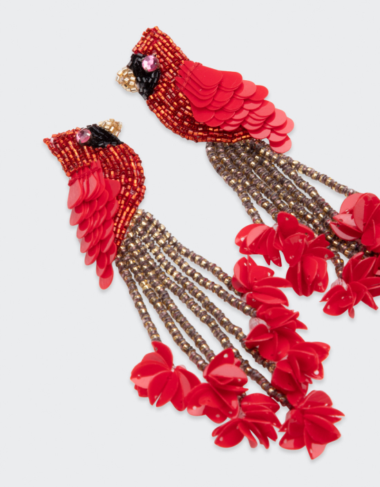 Cardinal Earrings