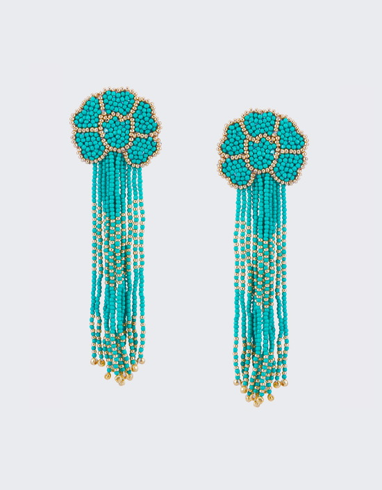 Daisy Tassel Earrings