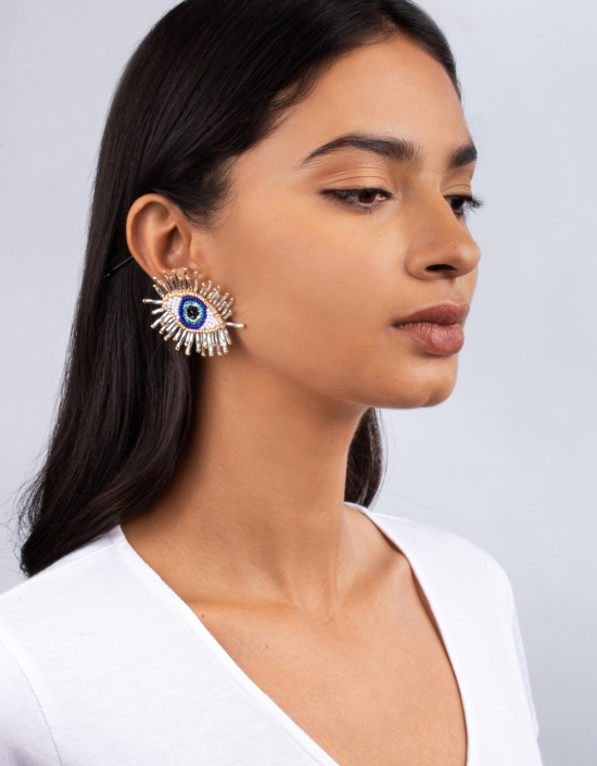 Paros Eye Earrings