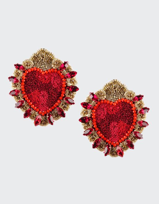 Mexican Heart Earrings