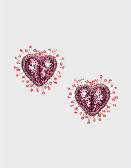 Mini Sparkle Heart Earrings
