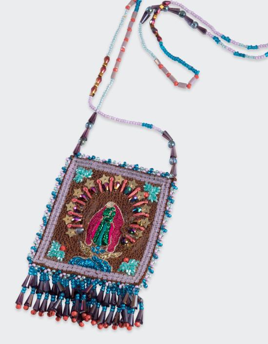 Virgen De Guadalupe Talisman Necklace Large