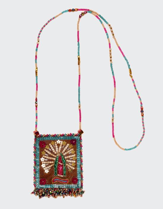 Virgen De Guadalupe Talisman Necklace Large