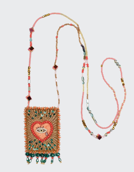 Heart Eye Talisman Necklace