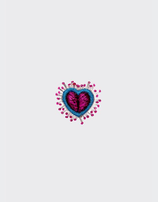Mini Sparkle Heart Brooch