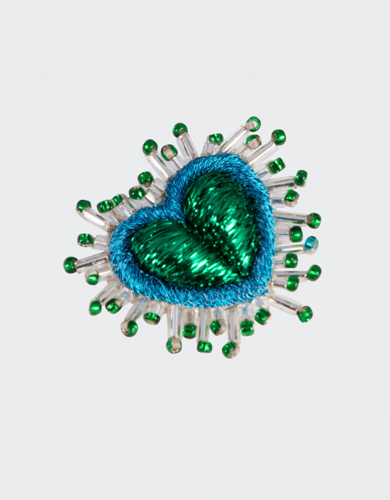 Mini Sparkle Heart Brooch
