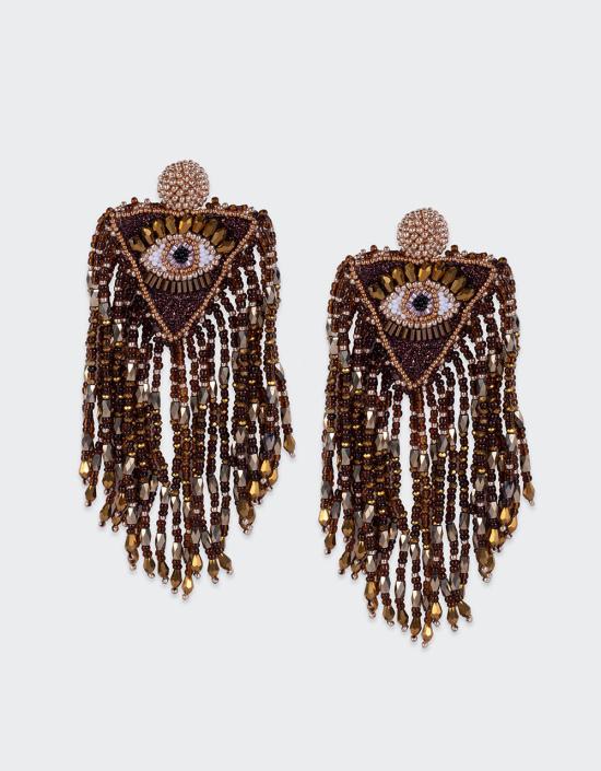 Sunburst Eye Earrings